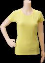 SMART-Tiers_Ladies-Short-Sleeve-Shirt_Yellow-Solid_Front_DSC_0250