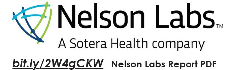 Nelson Labs: a Sotera Health company Labs Report PDF bit.ly/2W4gCKW